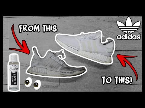 CLEANING FILTHY TRIPLE WHITE PRIMEKNIT ADIDAS NMD's TO LOOK BRAND NEW AGAIN!