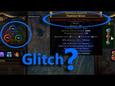 Path of Exile Glitch? Ignore the item for no reason