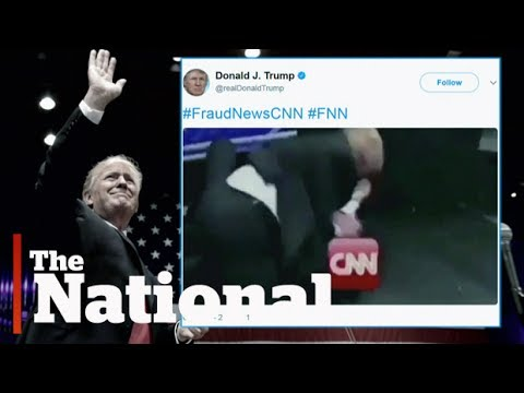 Download Youtube: Trump takes on CNN in wrestling meme tweet