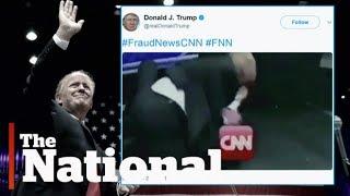 Trump takes on CNN in wrestling meme tweet