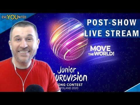 Junior Eurovision 2020: POST-SHOW LIVE STREAM