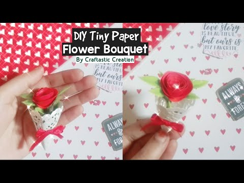 DIY Tiny Paper Flower Bouquet Tutorial | How To Make Tiny Flower Bouquet | Tiny Paper Flower Making