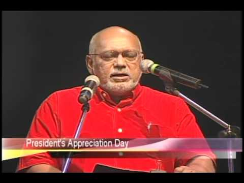 Donald Ramotar pays tribute to President Jagdeo at 'President's Appreciation' ceremony