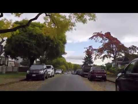 Driving in Burnaby BC Canada - North Area - Residences/Houses/Property - Autumn Season
