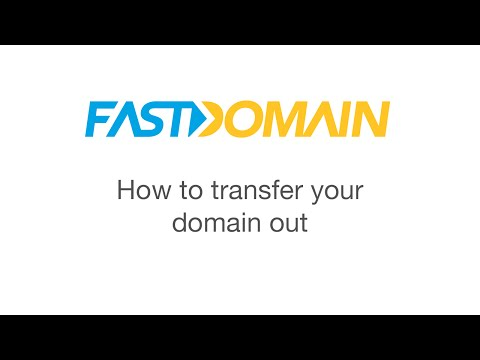 How to transfer a domain out of Fastdomain