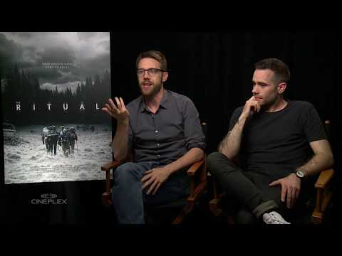 Rafe Spall, Robert James-Collier and the cast of The Ritual at TIFF 2017