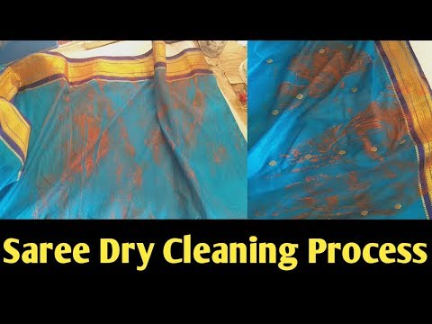 Saree dry cleaning process, how to saree drycleaning perfectly, (Hindi)