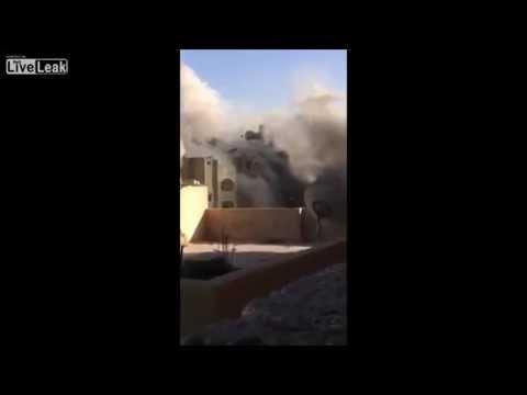 Gaza Homes hit by Israeli Airstrike