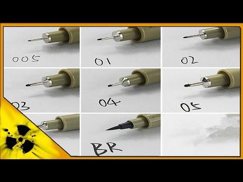 Aliexpress. Liner Pen. Лайнер ручка. Ручка для рисования [4k Video]