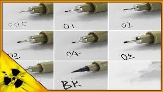 Aliexpress. Liner pen. Лайнер ручка. Ручка для рисования [4k video](Заказываю уже второй раз ручки для рисования, лайнер. Коротенький обзор на них. Видео снято в 4k. Ручки на..., 2016-05-05T19:57:37.000Z)
