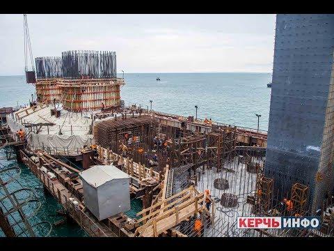 Строительство арок Керченского моста. Construction of arches of the Kerch bridge