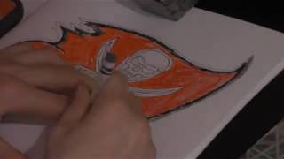 Speed Draw // Tampa Bay Buccaneers Logo