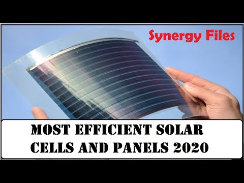 Most Efficient Solar Cells and Panels in 2020