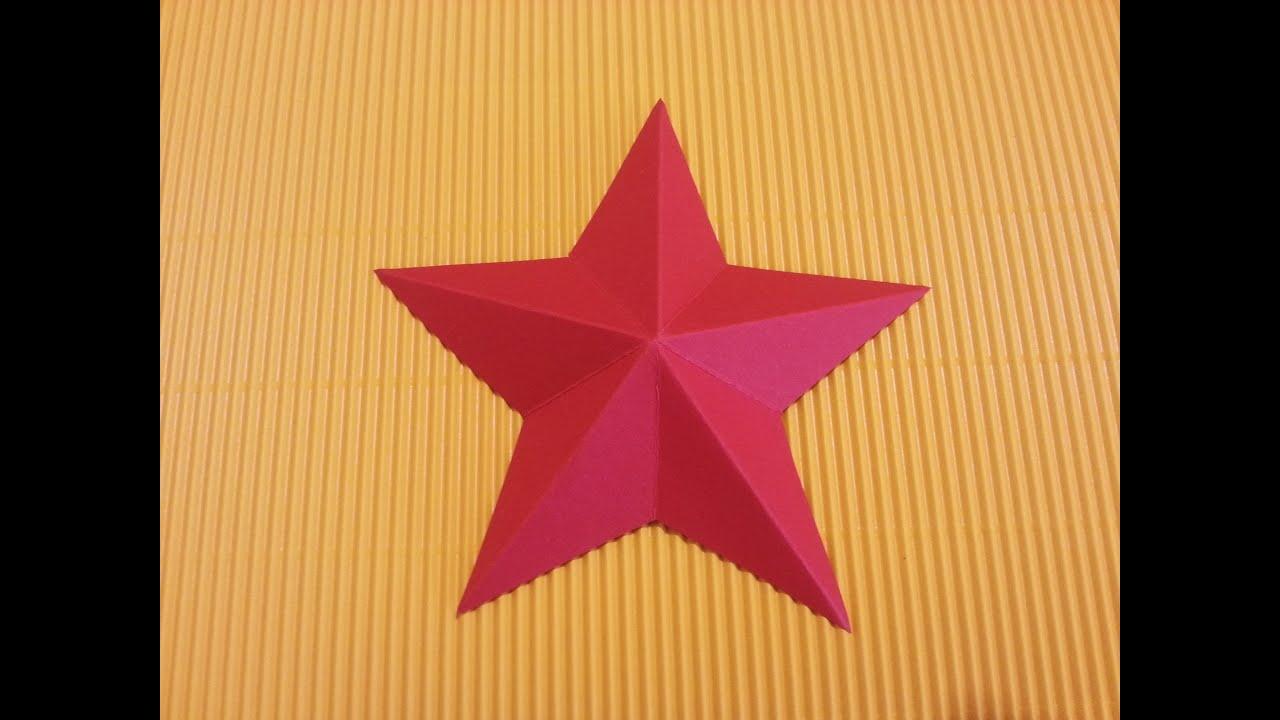 Disegnare Una Stella Di Natale.Come Fare Una Stella Di Natale Con Il Cartoncino Fai Da Te Mania