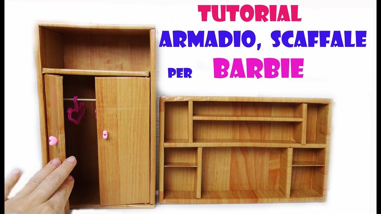 Armadio E Scaffale Per Le Barbie 2 Diy Tutorial Riciclo