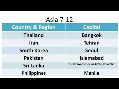 Asia: Countries & Capitals 7-12
