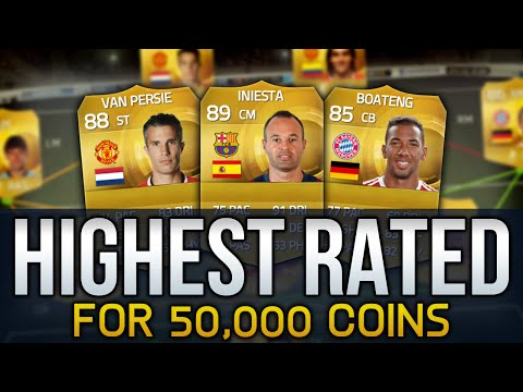 FIFA 15 - HIGHEST RATED TEAM POSSIBLE FOR 50,000 COINS! - FIFA 15 ULTIMATE TEAM SQUAD BUILDER