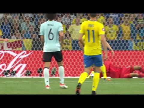 Hoogtepunten Zweden - België EK 2016 sfeerweergave