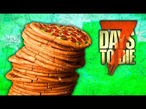 LEANING TOWER OF PIZZA (7 Days To Die - War of the Walkers Mod)(Ep.17)