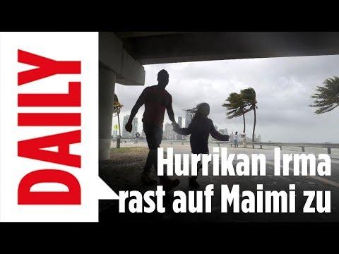 Hurrikan Irma rast auf Florida zu - BILD Daily Spezial live aus Miami
