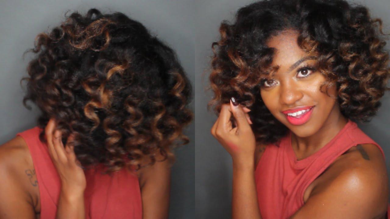 wand curls natural hair long