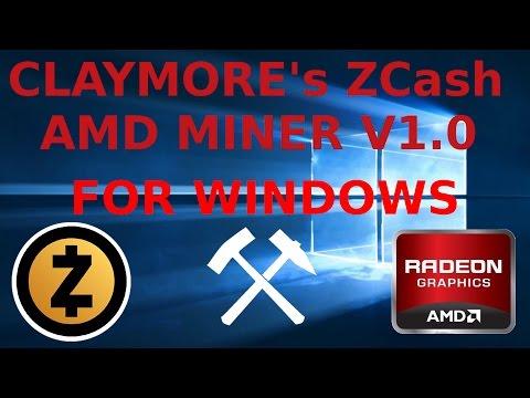 Claymore's ZCash Windows AMD GPU Miner V1.0 RX470 RX480 R9-295X2