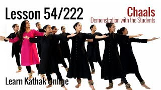Chaals Demonstration with Shishyas or Students in Kathak for Beginners | Lesson 54/222