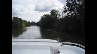 Cruising the Seille River in eastern France