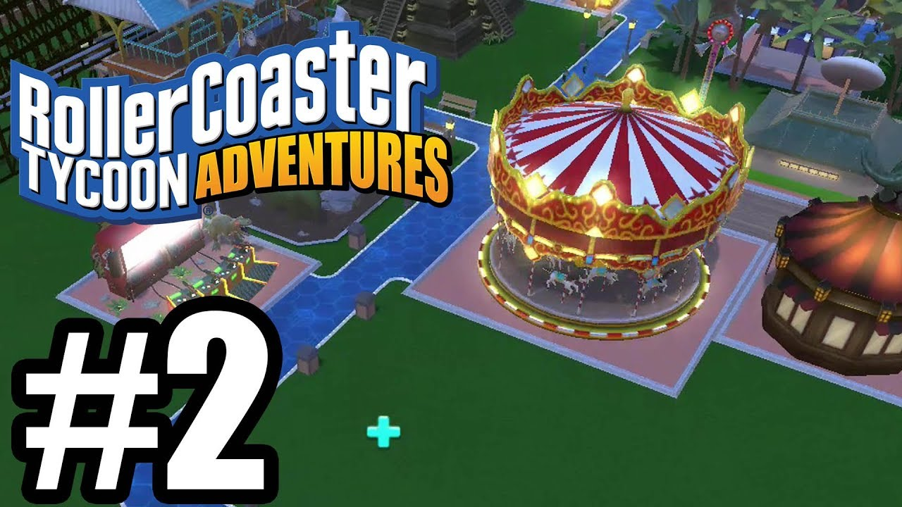 RollerCoaster Tycoon Adventures Gameplay Walkthrough Part 2 - Nintendo  Switch