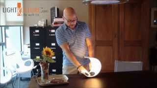 Luceplan Curl Led Accent Table Light Product Demo