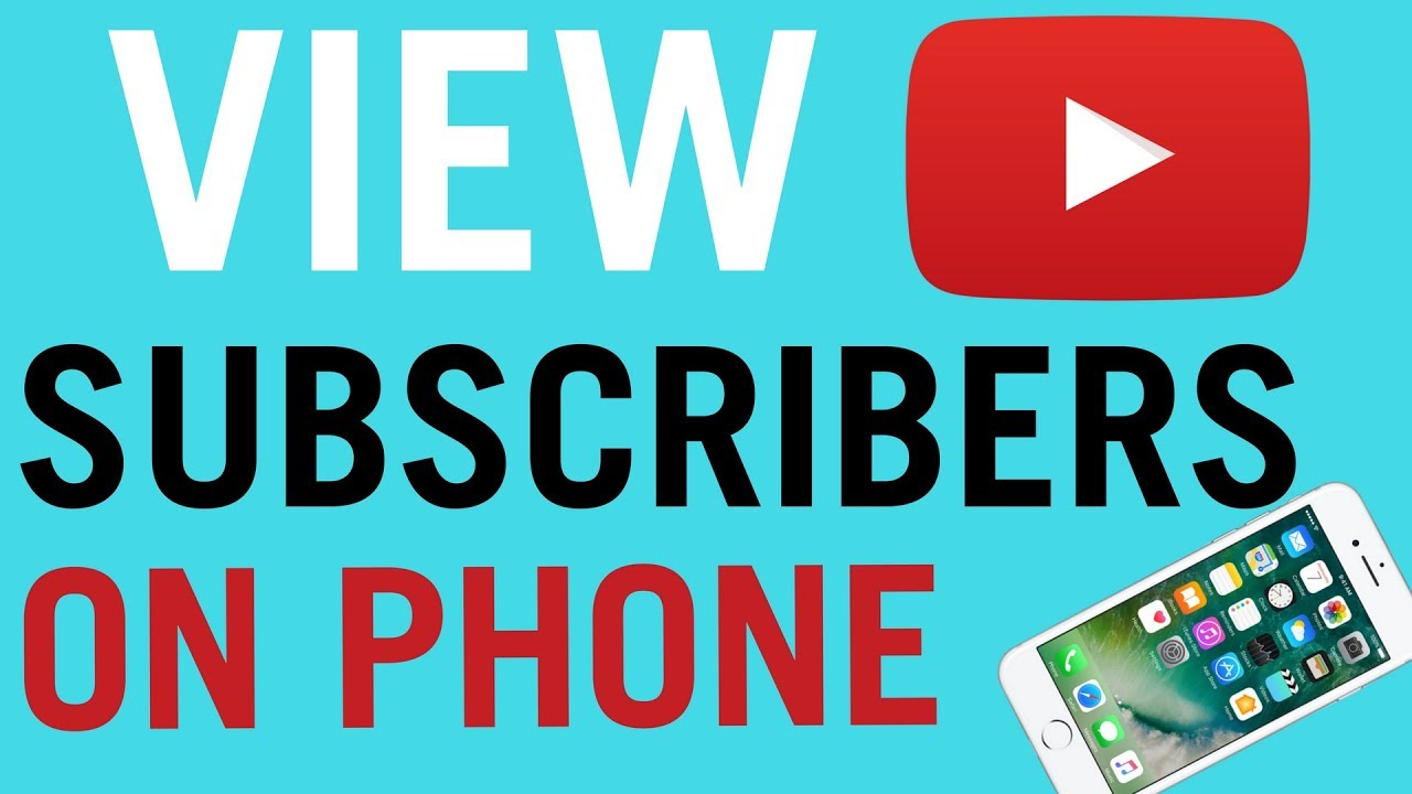 How To Check Your Youtube Subscribers on Phone / Tablet
