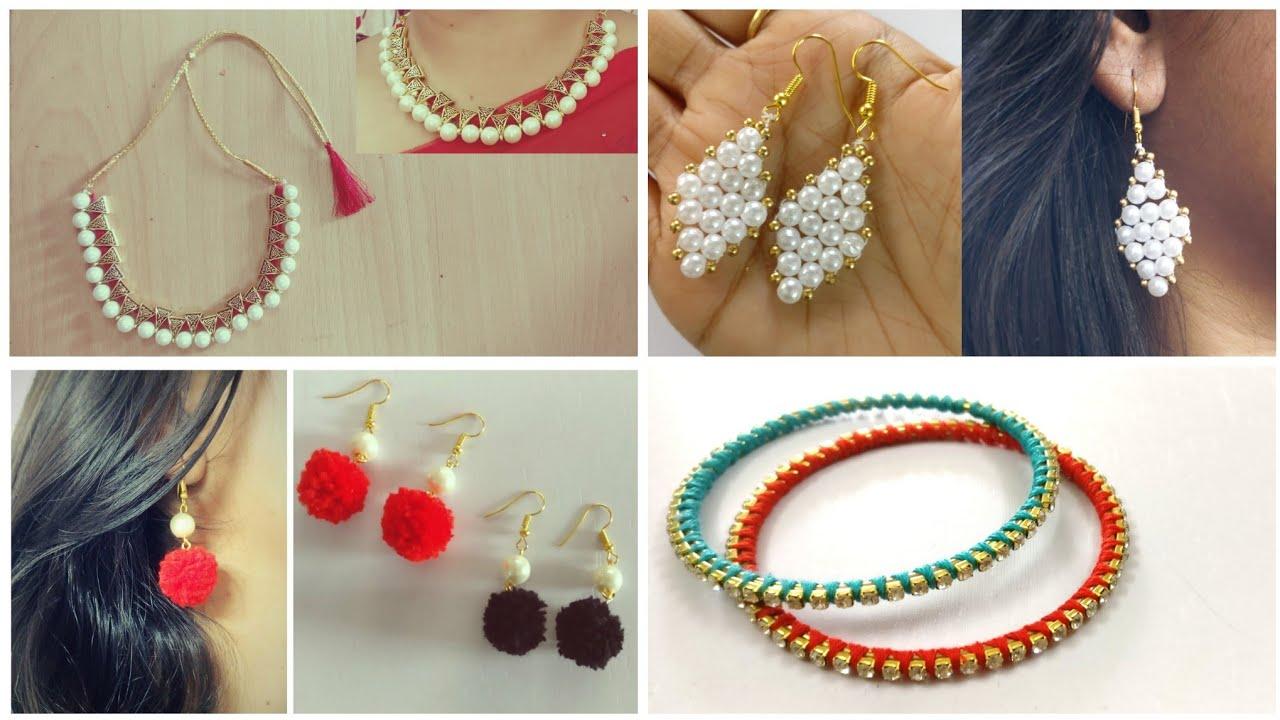 4 Handmade Jewellery   DIY   Jewelry Making   Handmade Jewelry Ideas - YouTube