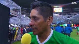 محمد ابو تريكة وسامي الجابر في مباراة نجوم العالم بالمكسيك