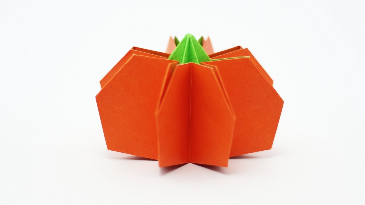 Origami Pumpkin (Jo Nakashima) - Halloween 🎃 - YouTube