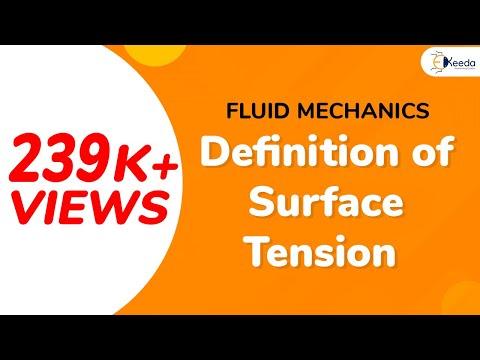 Definition Of Surface Tension  - Properties Of Fluid - Fluid Mechanics