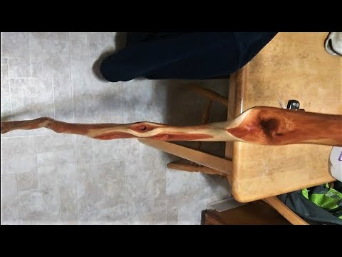 How To Hand Carve Diamond Willow Walking Stick Start To Finish