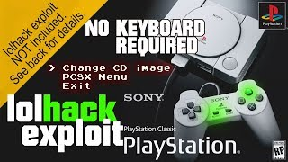 Playstation Classic | Access Debug Menu with controller, no keyboard needed! | lolhack exploit