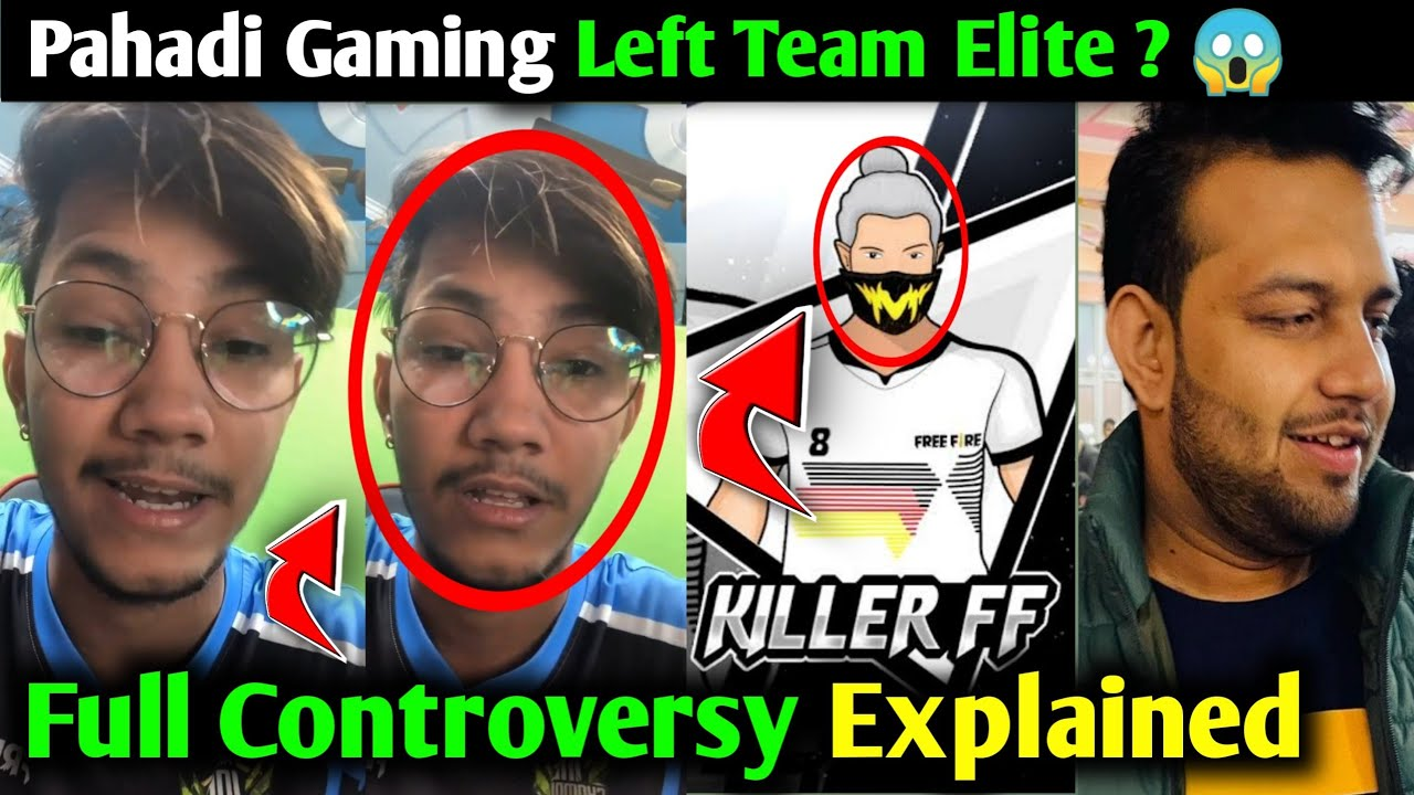 Pahadi Gaming Vs Killer FF Complete Controversy Explained ?, Pahadi Gaming & Killer Left Team El