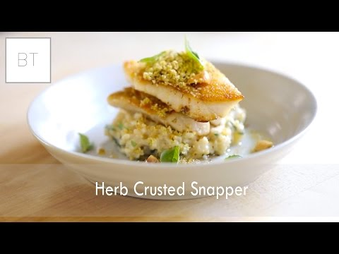 Herb Crusted Snapper