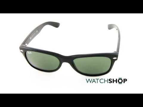 596748bf6b542 Ray-Ban Men s New Wayfarer Classic Sunglasses (RB2132-901L-55) - YouTube
