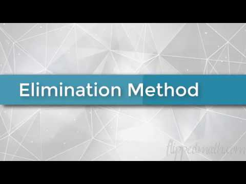 Algebra 1 - The Elimination Method (Solving Systems of Equations)