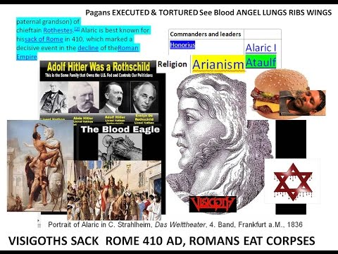Sweaty Roths sack Rome, Christians eat Gladiators' remains, Islam wars at chariot race & Charlemage