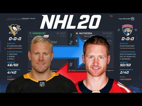 NHL 20 - HORNQVIST FOR MATHESON TRADE SIMULATION