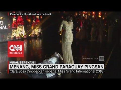 Detik-detik Miss Grand Paraguay Pingsan saat Kemenangannya Diumumkan