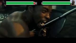 T'Challa vs Erik Killmonger with healthbars