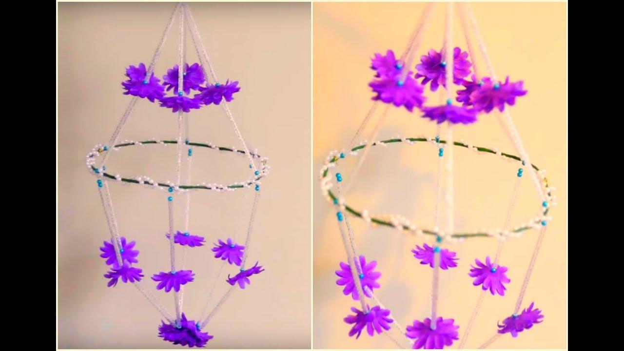 Wall Hanging Craft || Wall Decor Idea || DIY Chandelier ...