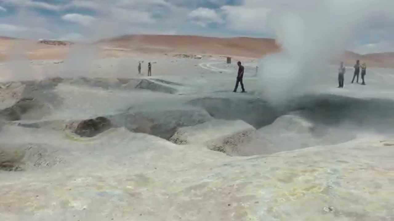 Geiser Sol de Manana, Altiplano Boliviano.