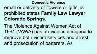 Family Law Lawyer Colorado Springs | Domestic Violence