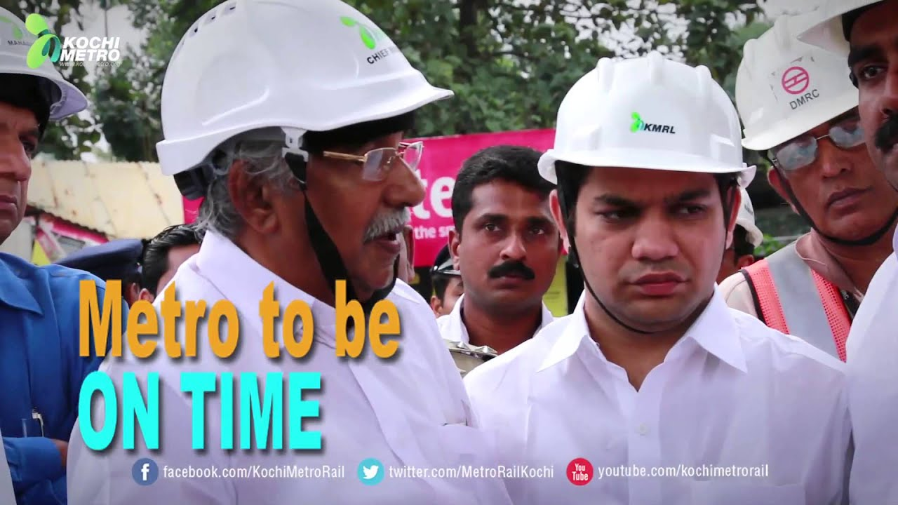 Download CM visits Kochi Metro construction sites