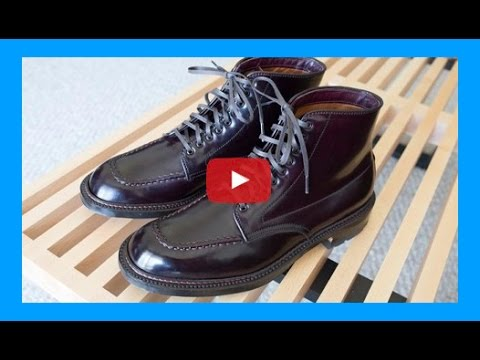 Alden Shell Cordovan Color 8 Indy Boots Youtube